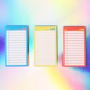 Neon medium checklist memo notepad