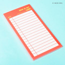 Neon coral - Lucalab Neon large checklist memo notepad