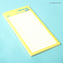Neon yellow - Lucalab Neon large checklist memo notepad