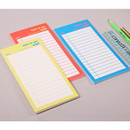 Lucalab Neon large checklist memo notepad