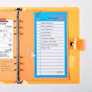 Example of use - Neon large checklist memo notepad