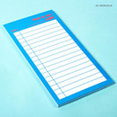 Neon blue - Lucalab Neon large checklist memo notepad