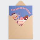 SOSOMOONGOO Cake time folding card and envelope set