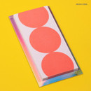 Neon coral - Lucalab Neon three dots plain notepad