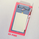 Pink - Jam medium clipboard with pen holder ver2