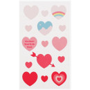 Cool pink heart - Love and peace paper deco sticker
