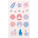 Twinkle shell - Love and peace paper deco sticker