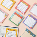 Ardium Cute checklist to do list memo notepad