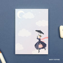 Mary poppins - World literature illustration sticky memo notepad