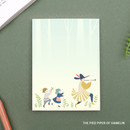 The pied piper of hamelin - World literature illustration sticky memo notepad