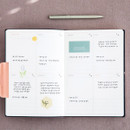 Weekly plan - Agenda large dateless weekly planner diary ver12