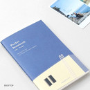 Rooftop - Pocket sewn bound small lined notebook ver2