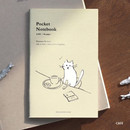 Cafe - Pocket sewn bound small lined notebook ver2