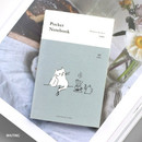 Waiting - Pocket sewn bound small grid notebook ver.2