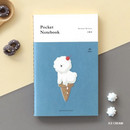 Ice cream - Pocket sewn bound small grid notebook ver.2