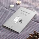 Jumping - Pocket sewn bound small plain notebook ver.2