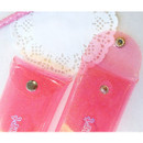 Snap button - N.IVY Simple heart glitter folding pencil case