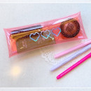 Example of use - N.IVY Simple heart glitter folding pencil case