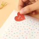 Example of use - Heart small sticky notes memo notepad for planner