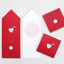 Colorful message card set of 5
