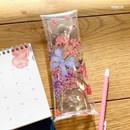 Ribbon - Moons friends flower clear folding pencil case