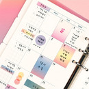Example of use - Deco sticker set for a monthly planner