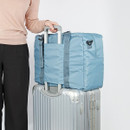 Back pocket - Easy carry large travel foldable duffle bag