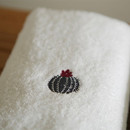 Example of use - Embroidery cotton hand towel set - Cactus