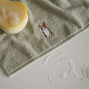 Example of use - Embroidery cotton hand towel set - Dog