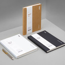 Ardium B+W kraft hardcover lined notebook