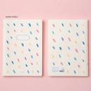 Warm pebble - Ardium Soft pattern large lined school notebook