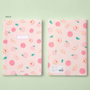 Peach - Ardium Soft pattern large lined school notebook