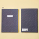 Rain- Ardium Soft pattern large lined school notebook