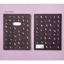 Night pebble - Soft pattern extra large lined school notebook