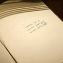 Example of use - Small but certain happiness hardcover 3mm lined notebook