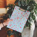 N.IVY Buri sky cherry blossom pattern A4 clipboard