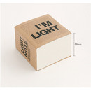 Depth - I'm Light block plain notebook