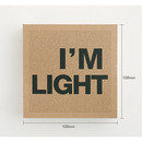Size of I'm Light small plain notebook