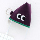 Purple - Som Som stitch earphone small zipper pouch