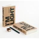 I'm Light handy plain notebook