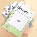 2young Smart spiral bound A5 size grid notebook