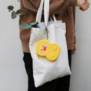 Yellow duck - Brunch brother duck silicon zipper pouch with keychain