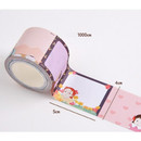 Size - Flying Whales Anne of green gables single roll sticky memo note tape
