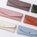 Merci PU stitched slim pencil case pouch