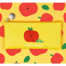 Sweet apple - Fruit PU flat zipper pencil case pouch