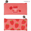 Strawberry jam - Fruit PU flat zipper pencil case pouch