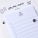 Dash and Dot Oh my sticky checklist memo notepad