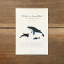 What a beautiful whale A5 lined notebook