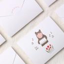 Dash and Dot Thanks folded letter card envelope set