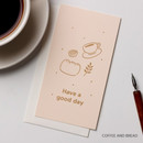 Coffee and bread - Foil accent message card with envelope